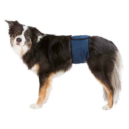 TRIXIE Břišní pás na podložky pro psa samce S 29-37 cm tmavě modrý
