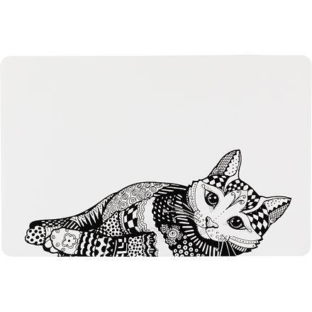TRIXIE Prostírání Place Mat kočka 44 x 28 cm bílo/černé