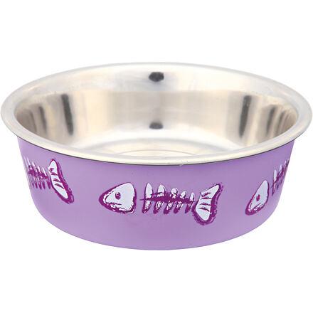 Trixie Nerez miska pro kočky s barevným potiskem 0,3 l/12 cm