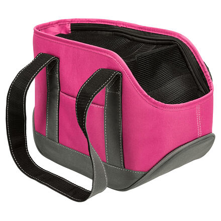 Transportní taška Alea, mini plemena, 16x20x30, do 5kg, růžová/šedá