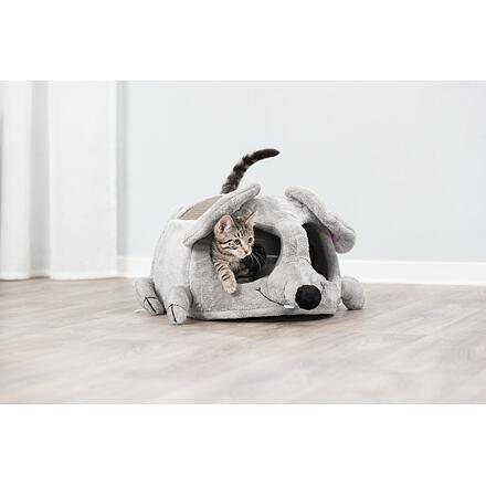 Trixie Plyšová myš LUKAS pelíšek s hračkou a škrábadlem 35x33x65cm