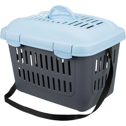 Trixie Transportní box MIDI CAPRI 44x33x32cm max.do 5kg TRIXIE,  - modro/šedá