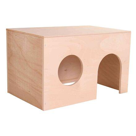 TRIXIE Dřevěný domek pro morčata, rovná střecha 24 x 15 x 15 cm