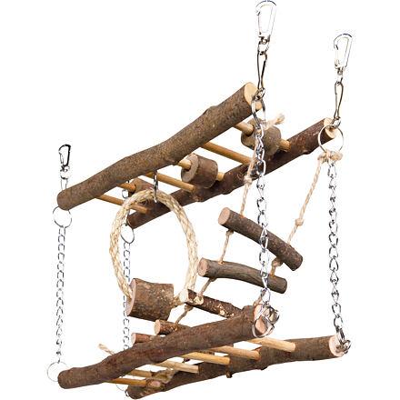Trixie Natural Living dřevěný most dvojitý pro myši, křečky 27 x 17 x 7 cm