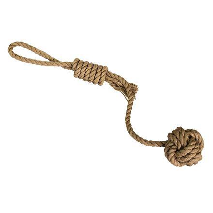 Vrhací lano s míčem HipHop přírodní juta 43 cm / 120 g