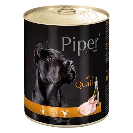PIPER s křepelkou, konzerva pro psy 800g