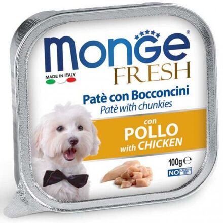 Monge MONGE FRESH - paštika a kousky s kuřecím 100 g pro psy