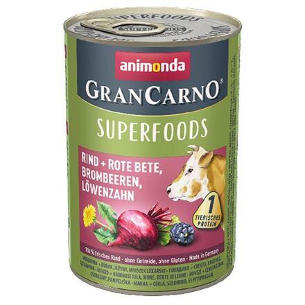 Animonda GRANCARNO Superfoods hovězí,čv.řepa,ostružiny,pampeliška 400 g pro psy