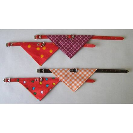 Obojek podšitý + šátek 60x2,5cm - DOPRODEJ