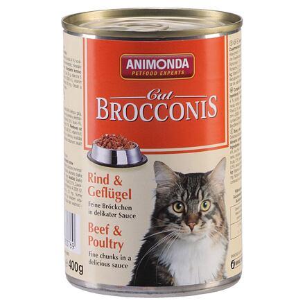 ANIMONDA konzerva BROCCONIS -hovězí, drůbeží pro kočky 400g