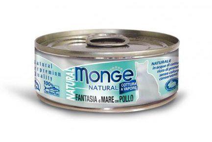 Monge MONGE NATURAL mořské plody s kuřecím masem pro kočky 80 g