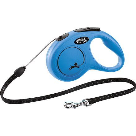 flexi Flexi New Classic S šňůra 5 m, max.12kg,  - modrá
