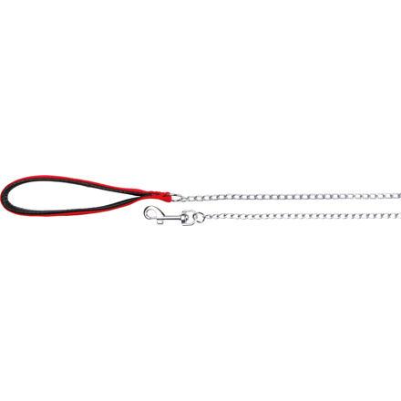Trixie Řetízkové vodítko 0.9m/4mm,  - červená