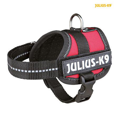 TRIXIE Julius-K9 silový postroj Baby 1/XS 30-40 cm,  - červený