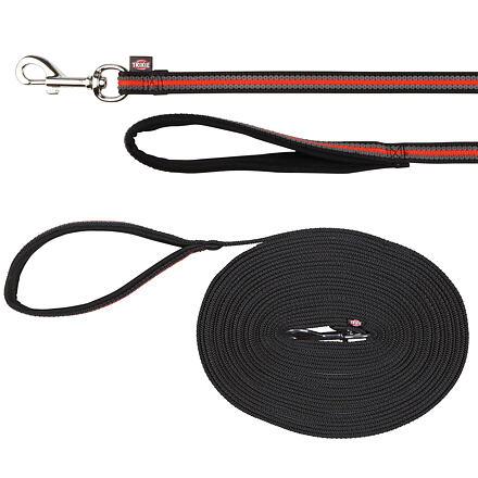 Trixie FUSION stopovací vodítko pásek 5 m/17 mm, černo-oranžový - DOPRODEJ
