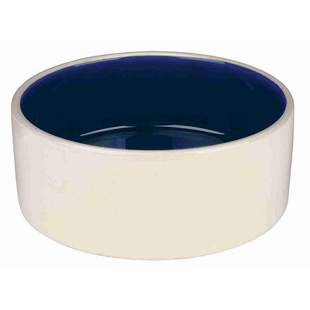 Trixie Keramická miska střední 1l/18cm - bílá/modrá