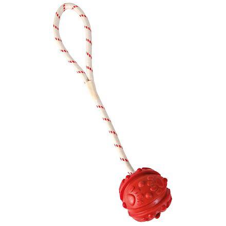 TRIXIE Plovoucí vrhací míč na šňůře 7cm/35cm
