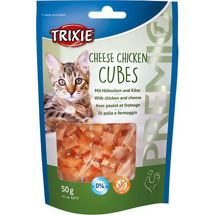 Trixie Premio CHEESE CHICKEN CUBES -kuřecí kostičky se sýrem 50 g