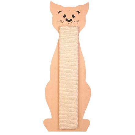 TRIXIE Škrabadlo tvar kočka přírodní/béžový 21 x 58 cm