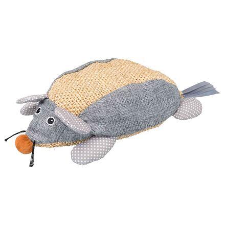 TRIXIE Sisalová myš, sisal/látka 30 cm přírodní/šedá
