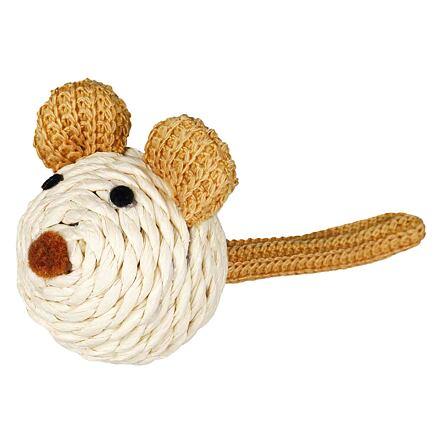 TRIXIE Heimtierbedarf GmbH Sisalová myš s rolničkou a provázkem 5 cm