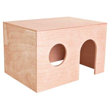 TRIXIE Dřevěný domek pro morčata, rovná střecha 27 x 17 x 19 cm
