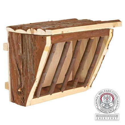 Trixie Dřevěné jesličky na seno s úchytem na klec 20 x 15 x 17 cm