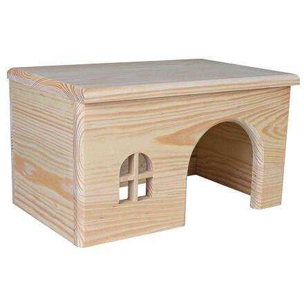 Trixie Dř. domek s rovnou střechou pro morčata 28x16x18cm