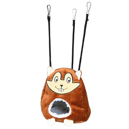 Trixie Plyšová závěsná jeskyň tvar křeček pro myši a křečky 11x14cm