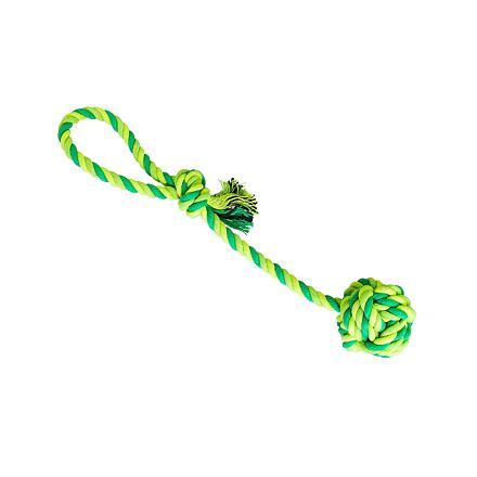 Přetahovadlo HipHop bavlněný míč 7 cm, 38 cm / 130 g sv.zelená, tm.zelená, khaki