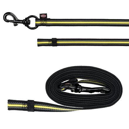 TRIXIE SPORTING FUSION tréninkové vodítko S-L 2 m/17 mm černo/žluté - DOPRODEJ