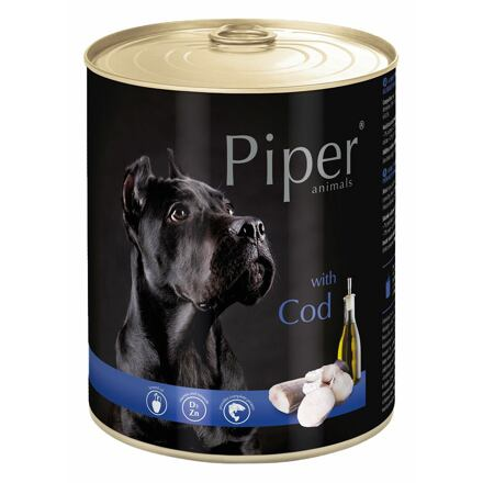 PIPER s treskou, konzerva pro psy 800g
