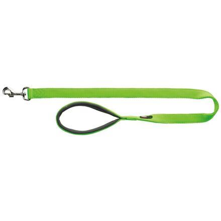 TRIXIE Vodítko PREMIUM s vyplněnou rukojetí 1m/20mm (M-L) - světle zelená - DOPRODEJ