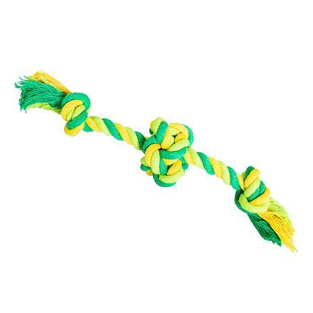 Míč se 2 rameny HipHop bavlněný 17 cm / 30 g limetková, zelená