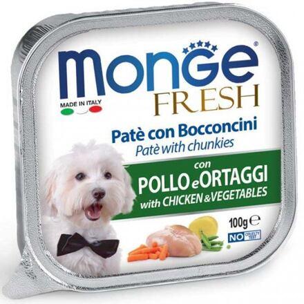 Monge MONGE FRESH - paštika a kousky s kuřetem a zeleninou 100g