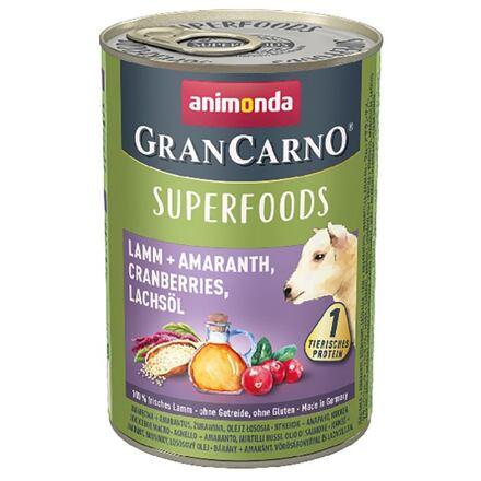 Animonda GRANCARNO Superfoods jehněčí,amarant,brusinky,los.olej 400 g pro psy