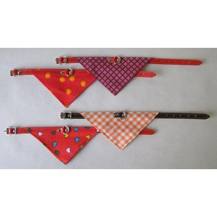 Obojek podšitý + šátek 65x2,5cm - DOPRODEJ
