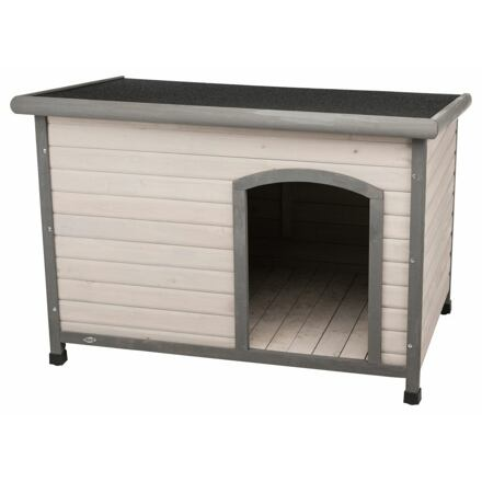 Natura bouda pro psa s rovnou střechou L 116 x 82 x 79 cm, šedá