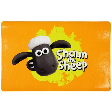 TRIXIE Ovečka Shaun prostírání pod misky s hlavou,oranžová  44x28cm - DOPRODEJ