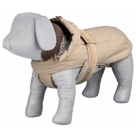 Trixie Zimní kabát BRIANZA béžový, kapuce, zateplený XL 65 cm - DOPRODEJ