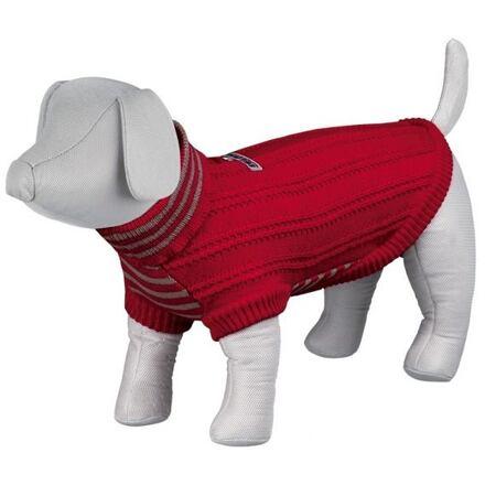 Trixie Pletený svetr s rolákem PIAVE červený M 45 cm - DOPRODEJ