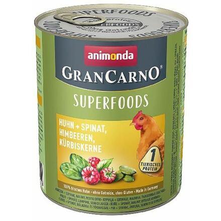Animonda GRANCARNO Superfoods kuře,špenát,maliny,dýňová semínka 800 g pro psy