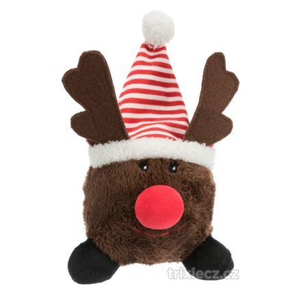 Vánoční plyšový míček Santa Claus/Sob/Sněhulák 18–29 cm