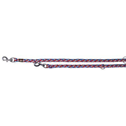 Trixie Reflexní prodlužovací vodítkoL-XL 2m/18 mm, modro/červená - DOPRODEJ