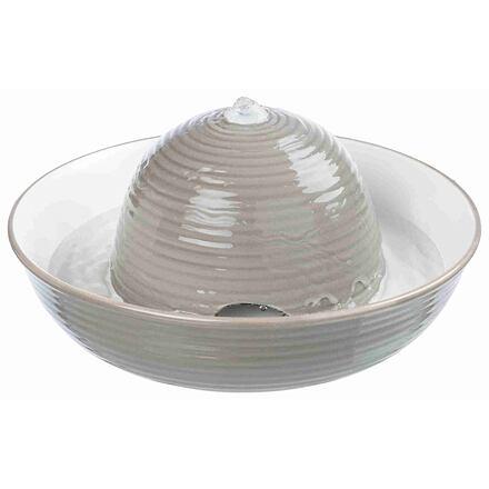 TRIXIE Pítko fontána VITAL FLOW, keramická 1,5 l šedo/bílé