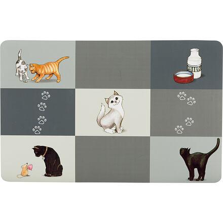 TRIXIE Prostírání Patchwork kočka 44 x 28 cm šedé