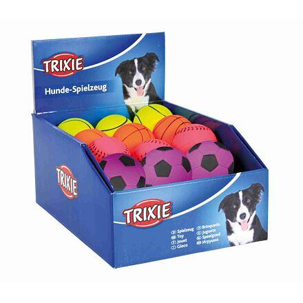 Trixie Sortiment neonových míčů, mechová guma 6cm