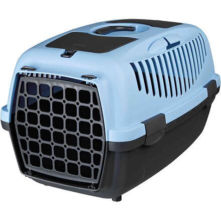 Trixie Transportní box CAPRI II 37x34x55cm max.do 8kg,  - světle šedá/modrá