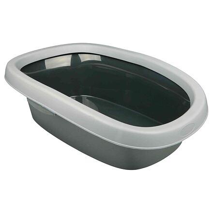 Trixie WC pro kočky CARLO 2 38x17x58cm, sv. šedá/tm. šedá