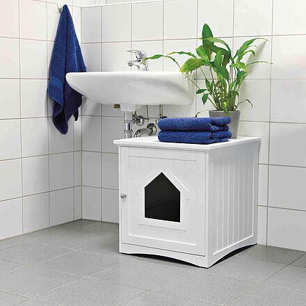 TRIXIE Heimtierbedarf GmbH Skříňka na kočičí toaletu 49 x 51 x 51 cm bílá  (např.33040)